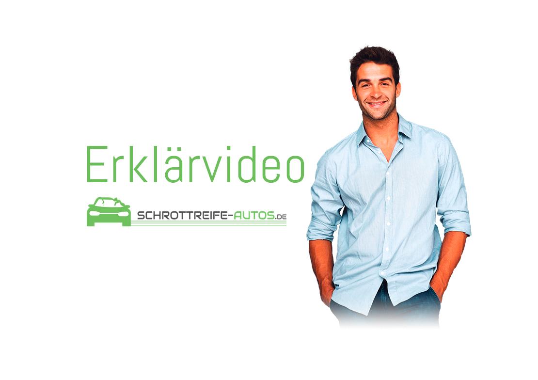Schrottreife-Autos.de - Auto entsorgen - Das Thumbnail für das Erklärvideo über die Auto Entsorgung